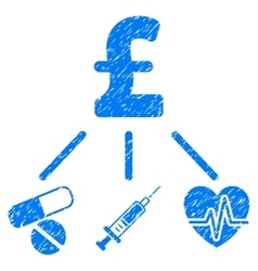 Medical pound budget grainy texture icon vector