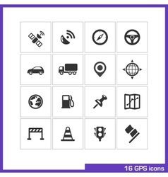 Gps icon set vector