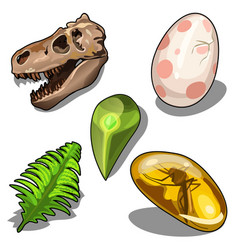 Set of items on theme of ancient natural resources vector