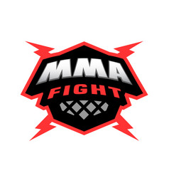 Mixed martial arts logo vector