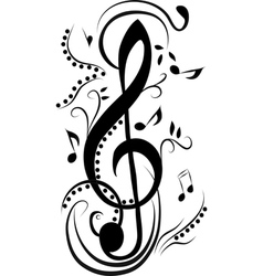 Abstract treble clef vector