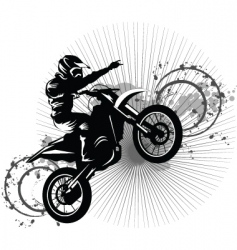 Black bike vector