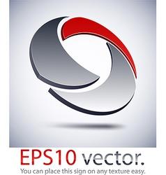 3d modern technology logo icon vector