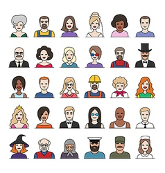 characters part3 vector image