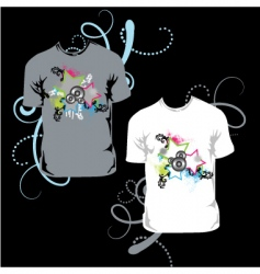 t-shirt with abstract star vector image