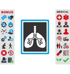 Lungs x-ray photo icon vector