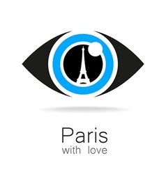 Paris with love vector