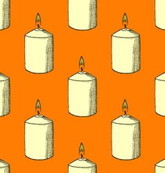 Sketch candle vector
