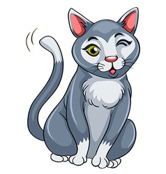 Cat with happy face vector image