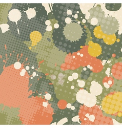 splashed grunge abstraction vector image
