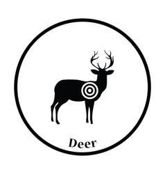 Deer silhouette with target icon vector