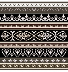 antique borders for your design vector image vector image