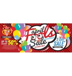 April Fool Sale 1500x600 pixel Banner vector image