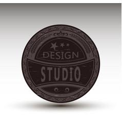 badge for design studio vector image vector image