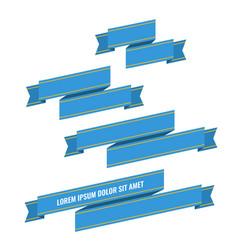 blue web ribbon banners set vector image