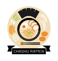 Chashu ramen vector