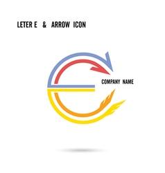Creative letter E icon logo design vector image vector image