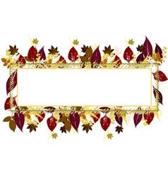 Fall Leaves Frame vector image