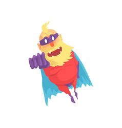 Flat cartoon character of elderly superhero in vector