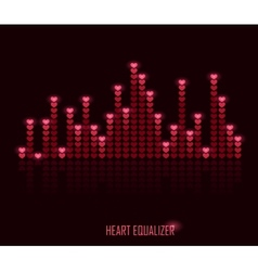 Heart equalizer vector image