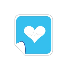 heartbeat blue icon vector image