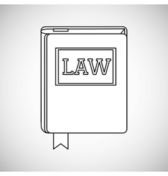 Law concept justice icon colorful icon editable vector