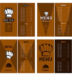 Menu designs vector image