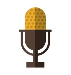 Microphone icon retro technology design vector
