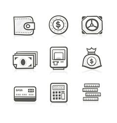 Money related icon set vector image vector image