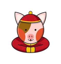 Pig Chinese vector image vector image