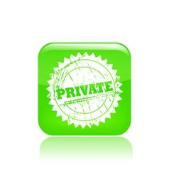 Private icon vector