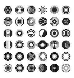 Set of Abstract Signs Symbols vector image