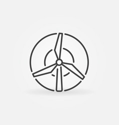 Windmill concept icon vector