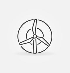 Windmill concept icon vector