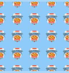 Delivery pizza seamless pattern vector