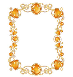 Fantasy jewel frame template vector