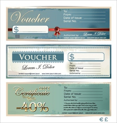 Voucher template set vector