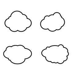 Set of clouds icons vector