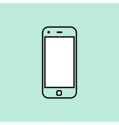 Smartphone design template element for web and vector