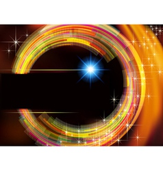 Abstract technology background with fire circle vector