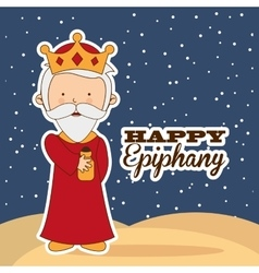 Happy epiphany vector