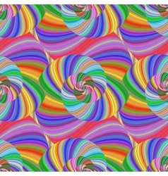Colored spiral fractal pattern in bright colors vector