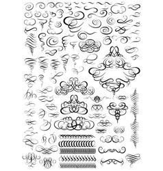 Calligraphic elements for design big set vector
