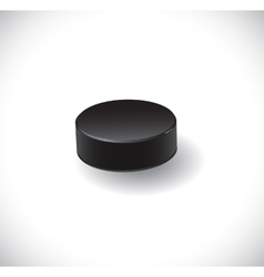 Isolated hockey puck vector image