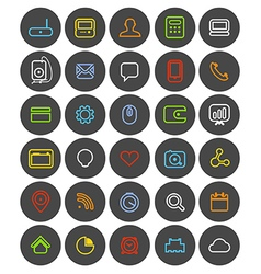 Different simple web navigation pictograms collect vector