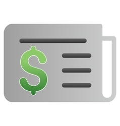 Banking news gradient icon vector