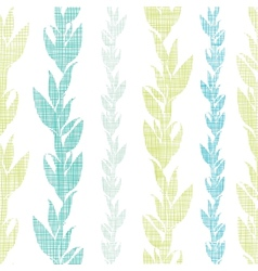 Blue green seaweed vines seamless pattern vector