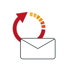 circle arrow and envelope icon vector image