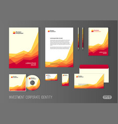 Corporate identity template for investment company vector