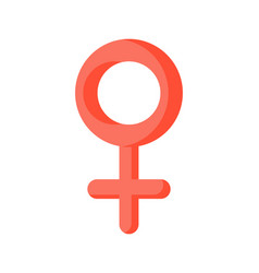 female sign isolated pink woman symbol on white vector image